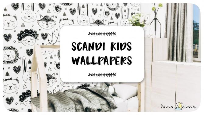 Sims 4 SCANDI KIDS WALLPAPERS at Luna Sims