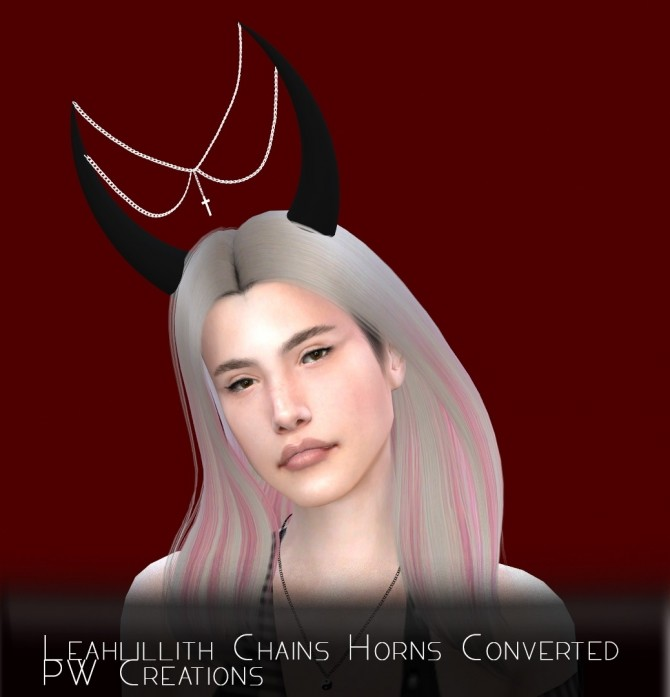 Sims 4 Leahlillith Chains Horns & Lip Preset 6 conversions at PW's Creations