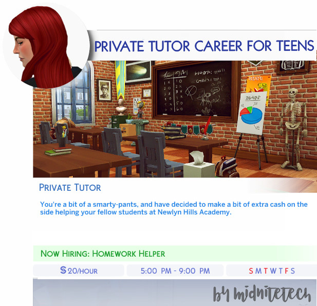 Sims 4 PRIVATE TUTOR CAREER (TEENS) at MIDNITETECH'S SIMBLR