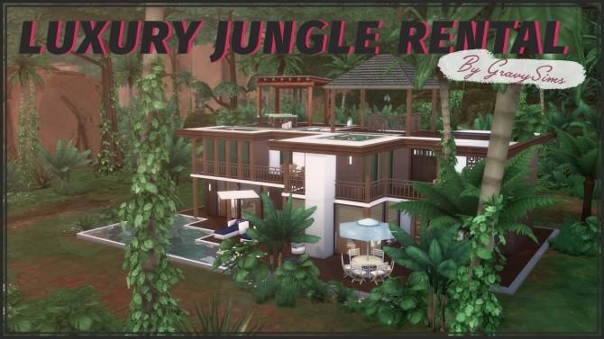 Sims 4 Luxury Jungle Rental + Speed Build at GravySims