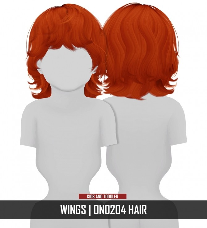 WINGS ON0204 HAIR KIDS AND TODDLER VERSION by Thiago Mitchell at REDHEADSIMS image 1097 670x736 Sims 4 Updates