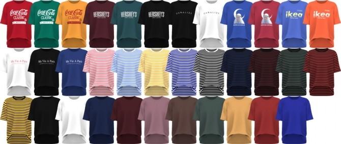 Sims 4 Basic Short Sleeve T Shirts (Remake) at Gorilla