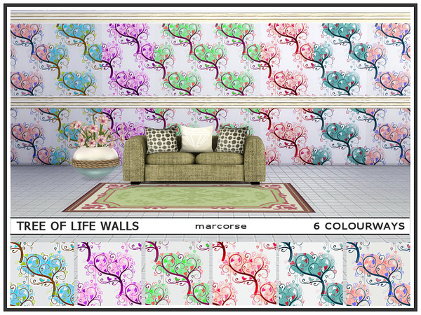 Sims 4 Tree of Life Walls by marcorse at TSR