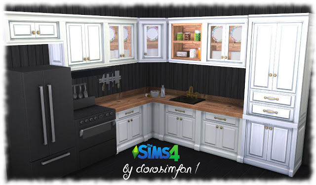 Country kitchen recolor by dorosimfan1 at Sims Marktplatz image 1121 Sims 4 Updates