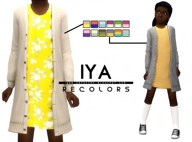 Iya Sweater Dress Recolors at Onyx Sims image 1128 670x497 Sims 4 Updates
