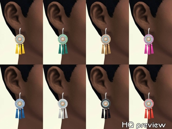 Pom earrings by Delise at Sims Artists image 113 670x503 Sims 4 Updates