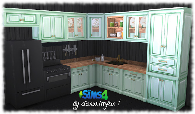 Country kitchen recolor by dorosimfan1 at Sims Marktplatz image 1141 Sims 4 Updates