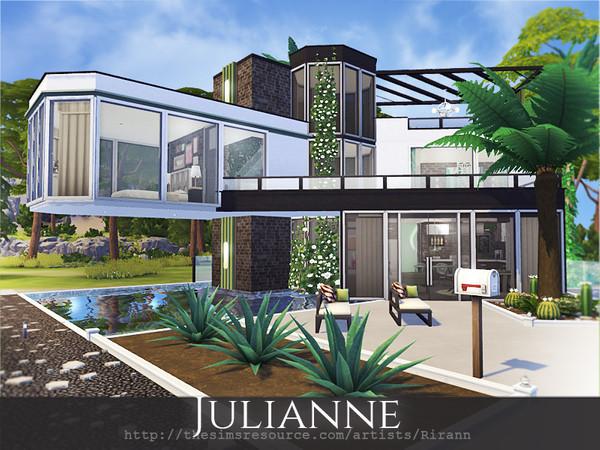 Sims 4 Julianne modern house by Rirann at TSR