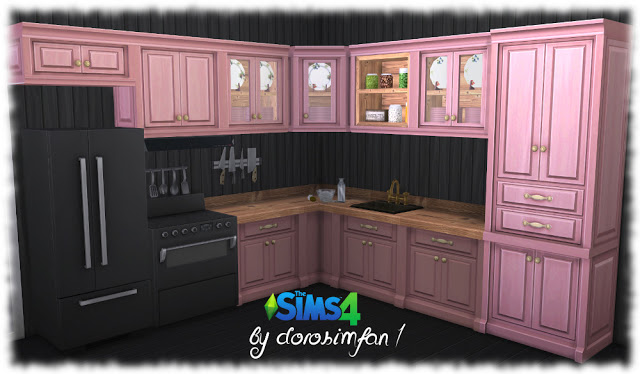 Country kitchen recolor by dorosimfan1 at Sims Marktplatz image 1151 Sims 4 Updates