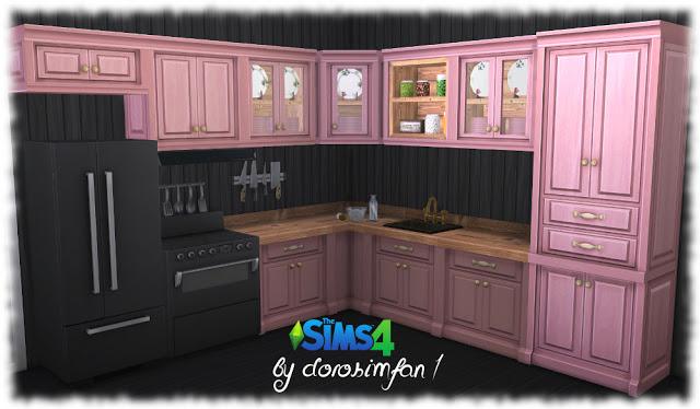 Sims 4 Country kitchen recolor by dorosimfan1 at Sims Marktplatz