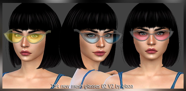 Sims 4 Glasses 02 V2 at All by Glaza