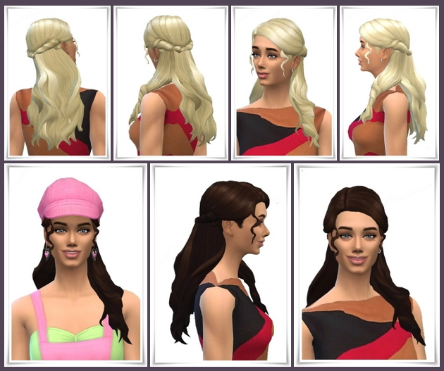 Sims 4 Shield's Half Up Curls at Birksches Sims Blog