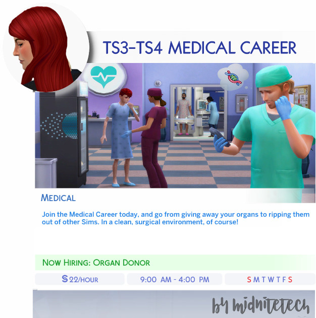 MEDICAL CAREER at MIDNITETECH'S SIMBLR image 1235 Sims 4 Updates