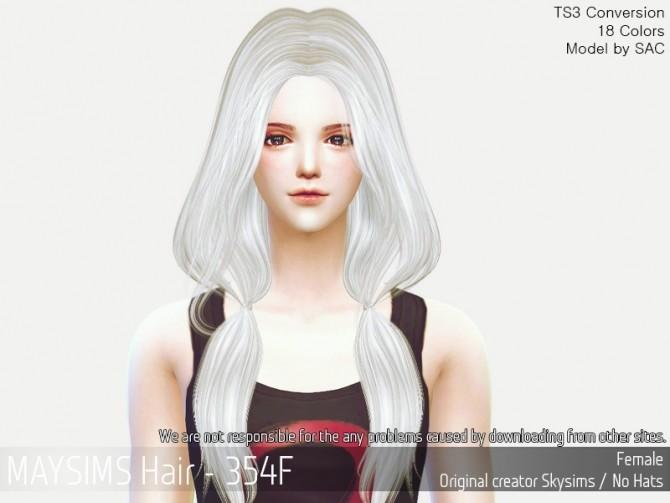 Sims 4 Hair 354F (Skysims) at May Sims