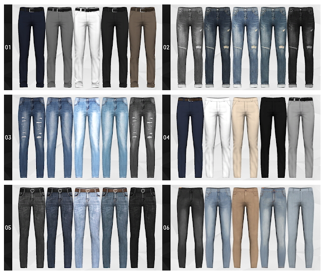 Pants Merge Package with nr.15 at Gorilla image 1253 Sims 4 Updates