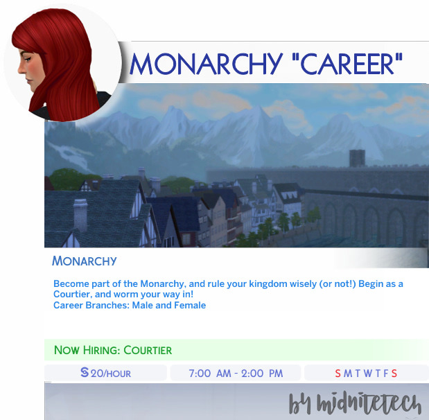 Sims 4 MONARCHY CAREER at MIDNITETECH'S SIMBLR