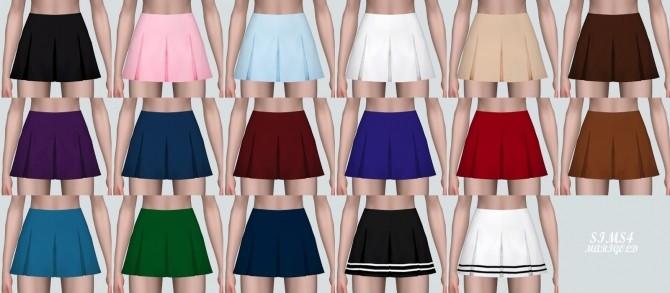 Sims 4 Mini Pleats Skirt Secret at Marigold