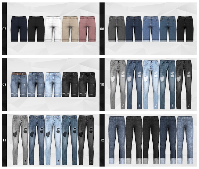 Pants Merge Package with nr.15 at Gorilla image 1263 Sims 4 Updates