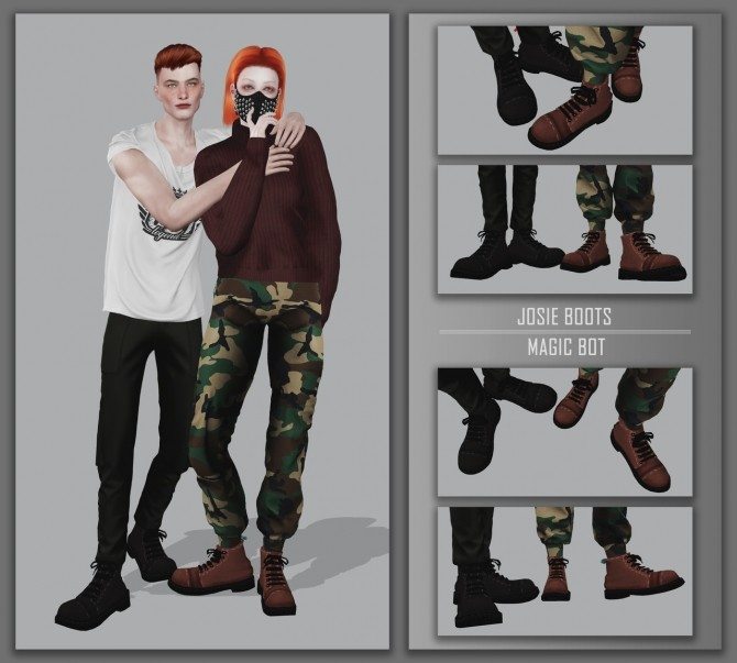 Sims 4 JOSIE BOOTS at Magic bot
