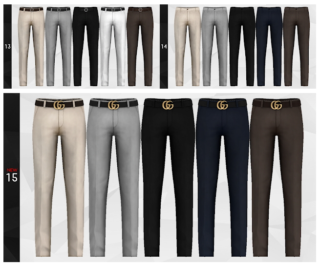 Pants Merge Package with nr.15 at Gorilla image 1273 Sims 4 Updates