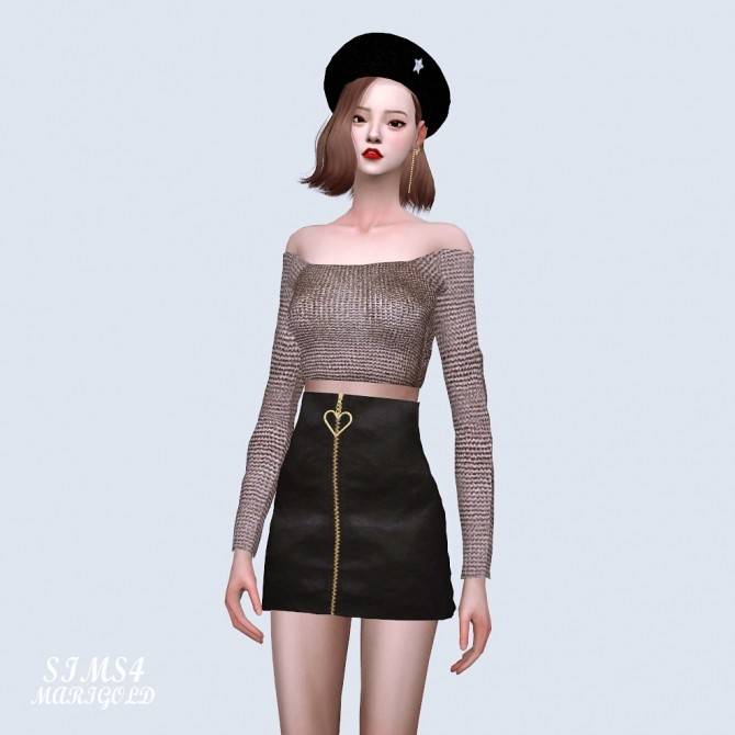 Off Shoulder Crop Top at Marigold image 1281 670x670 Sims 4 Updates
