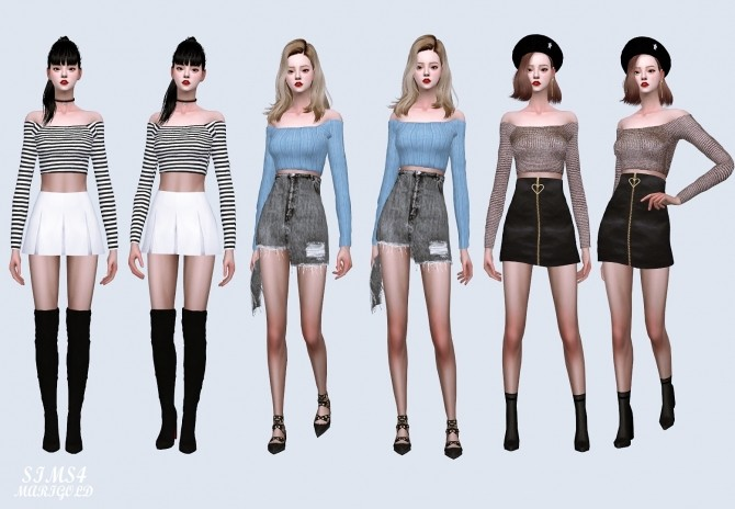 Off Shoulder Crop Top at Marigold image 1311 670x464 Sims 4 Updates