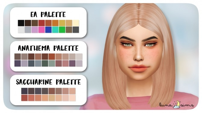 Sims 4 NIGHTCRAWLER CUBE HAIR CLAYIFIED at Luna Sims