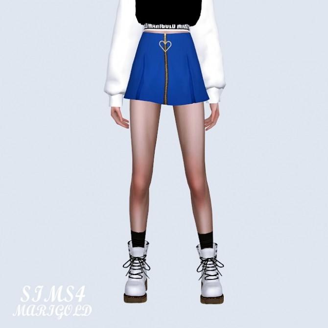 Heart Mini Pleats Skirt at Marigold image 1321 670x670 Sims 4 Updates