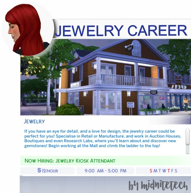 JEWELRY CAREER at MIDNITETECH'S SIMBLR image 1336 Sims 4 Updates