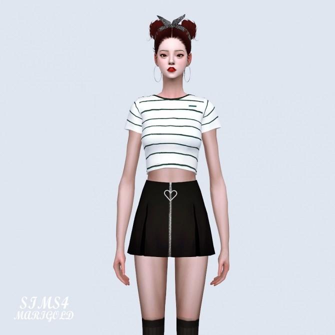 Heart Mini Pleats Skirt at Marigold image 1351 670x670 Sims 4 Updates