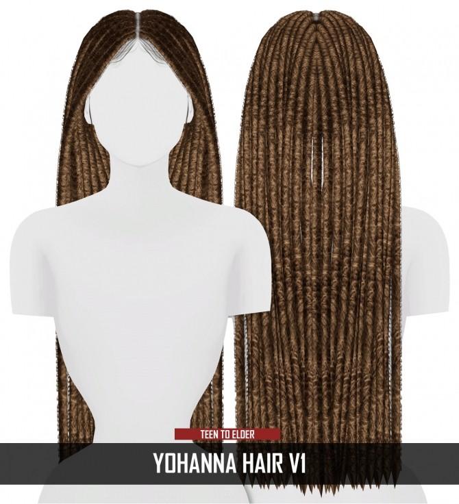 Sims 4 YOHANNA HAIR V1 by Thiago Mitchell at REDHEADSIMS