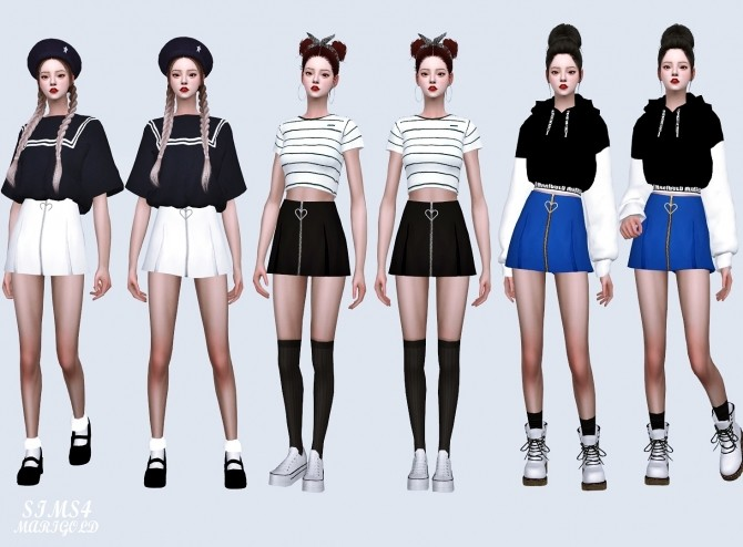 Heart Mini Pleats Skirt at Marigold image 1391 670x494 Sims 4 Updates