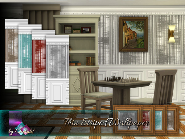Thin Striped Wallpaper by emerald at TSR image 14 Sims 4 Updates