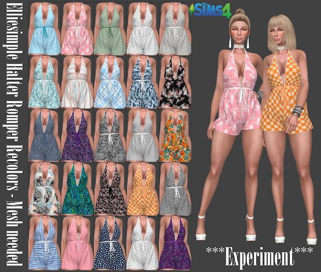 Sims 4 Elliesimple Halter Romper Recolors at Annett's Sims 4 Welt