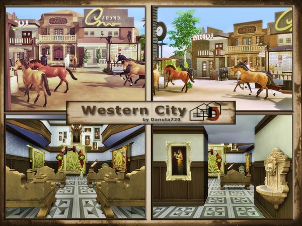 Sims 4 Western City by Danuta720 at TSR