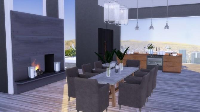 Sims 4 The Hills modern villa at The Huntington