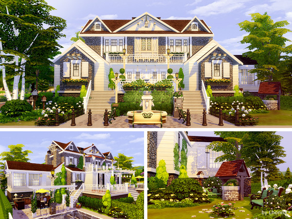 Sims 4 Birch Trees Mansion by Lhonna at TSR