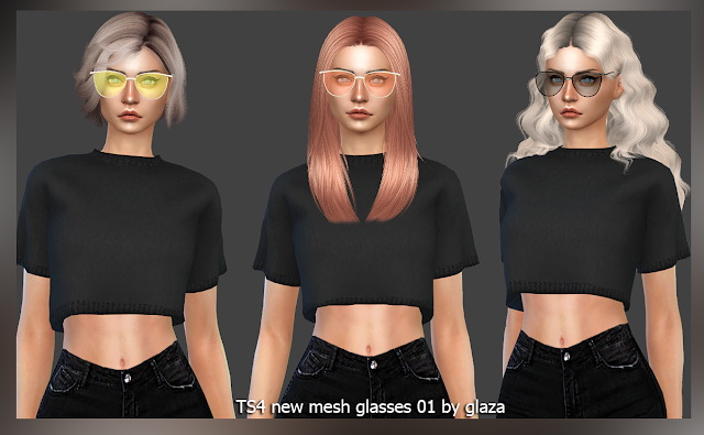 Sims 4 Glasses 01 at All by Glaza