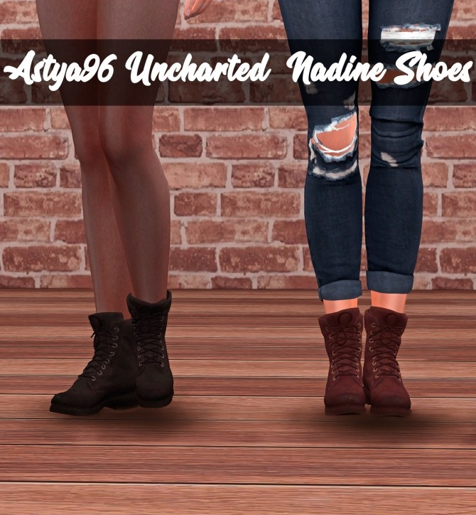Uncharted 4 Nadine Shoes at Astya96 image 145 670x724 Sims 4 Updates
