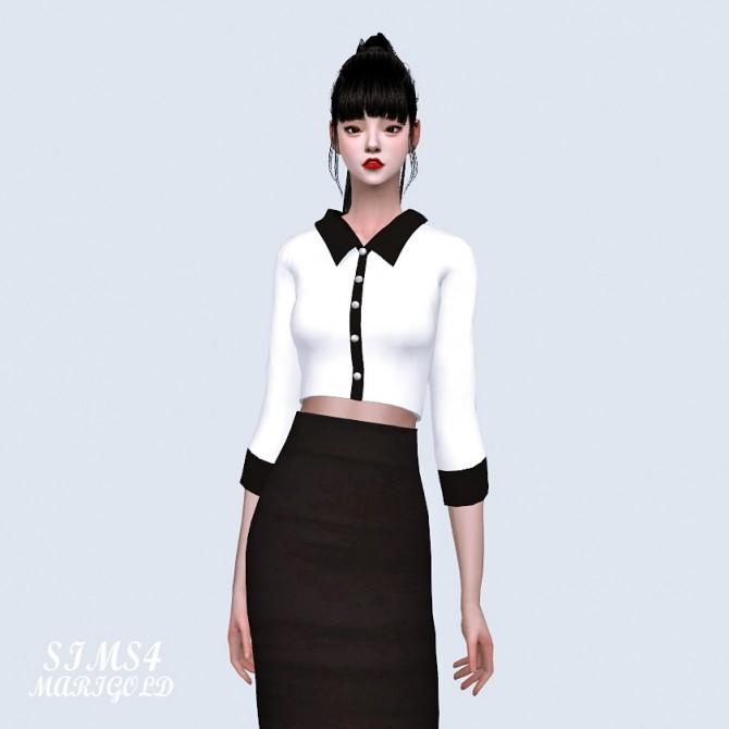 Collar Crop Top at Marigold image 1451 670x670 Sims 4 Updates