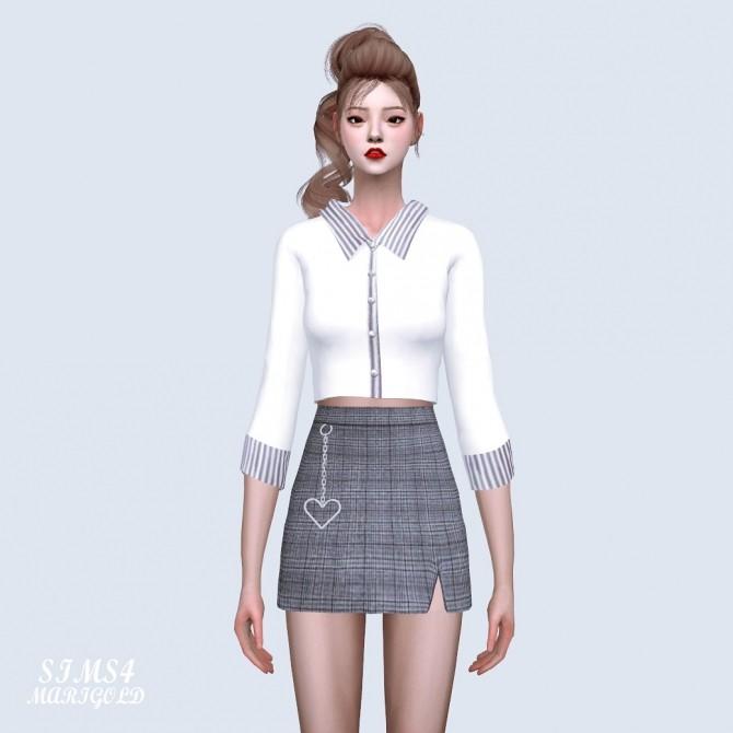 Collar Crop Top at Marigold image 1461 670x670 Sims 4 Updates