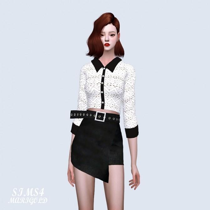 Collar Crop Top at Marigold image 1471 670x670 Sims 4 Updates
