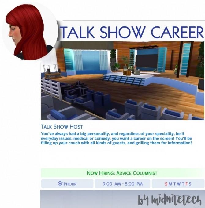 Sims 4 TALK SHOW HOST CAREER at MIDNITETECH'S SIMBLR