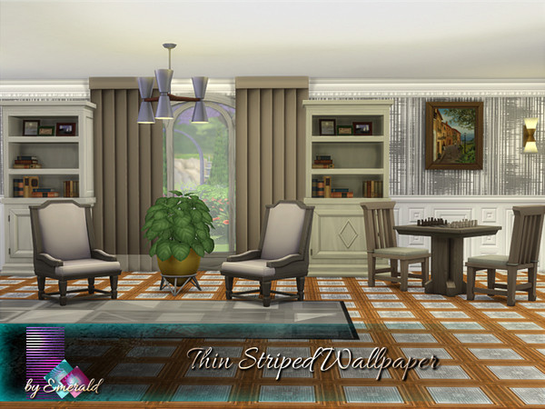Thin Striped Wallpaper by emerald at TSR image 15 Sims 4 Updates