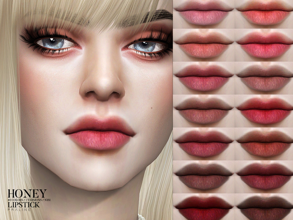 Honey Lipstick N181 by Pralinesims at TSR image 151 Sims 4 Updates