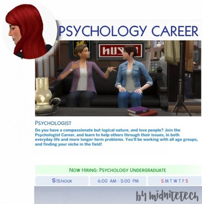 Sims 4 PSYCHOLOGIST CAREER at MIDNITETECH'S SIMBLR