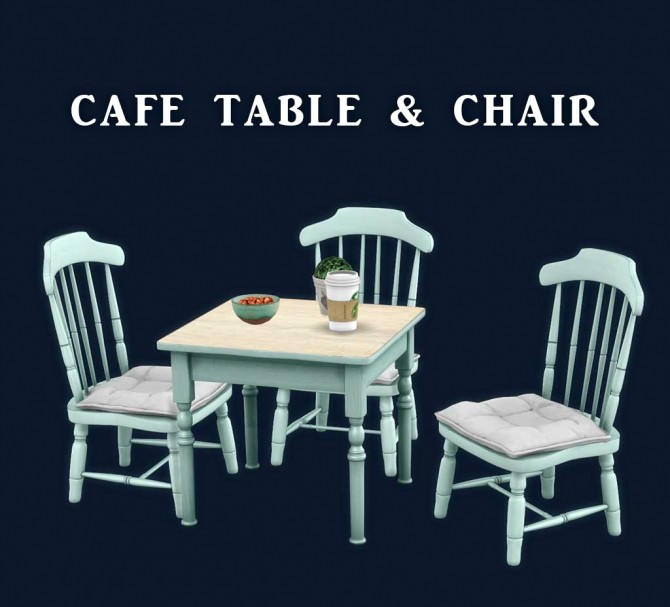 Cafe Table And Chair At Leo Sims 187 Sims 4 Updates