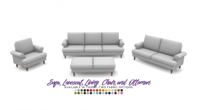 Sims 4 Iris Seating Country Style Comfort Set at Simsational Designs