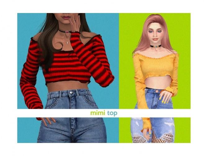 Sims 4 Mimi Top at Daisy Pixels