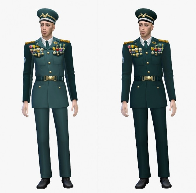 Sims 4 GP07 Strangerville Military Uniform at EFFIE